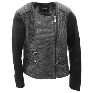 Host Pick🌟Maje Leather Tweed Jacket